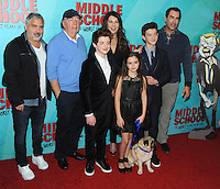 NEW YORK, NY - OCTOBER 01: Director Steve Carr, James Patterson, Thomas Barbusca, Lauren Graham, Alexa Nisenson, Rob Riggle and Griffin Gluck attends the New York Screening of Middle School: The Worst Years of My Life at Regal E-Walk on October 1, 2016 in New York City. Photo Credit: John Palmer/MediaPunch