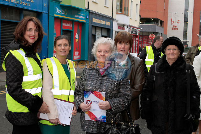 Caroline Kavanagh, Noelle Bowe, Sinead Nic Craith, Ann Nic craith and Evelyn Greene at the walking tour of Drogheda...Photo NEWSFILE/Jenny Matthews..(Photo credit should read Jenny Matthews/NEWSFILE)