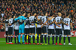 Players of Valencia CF prior to the La Liga 2017-18 match between Valencia CF and FC Barcelona at Estadio de Mestalla on November 26 2017 in Valencia, Spain. Photo by Maria Jose Segovia Carmona / Power Sport Images