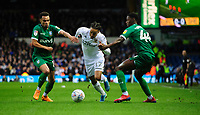 Leeds United's Helder Costa vies for possession with Sheffield Wednesday's Jacob Murphy, left, and Sheffield Wednesday's Osaze Urhoghide<br /> <br /> Photographer Chris Vaughan/CameraSport<br /> <br /> The EFL Sky Bet Championship - Leeds United v Sheffield Wednesday - Saturday 11th January 2020 - Elland Road - Leeds<br /> <br /> World Copyright © 2020 CameraSport. All rights reserved. 43 Linden Ave. Countesthorpe. Leicester. England. LE8 5PG - Tel: +44 (0) 116 277 4147 - admin@camerasport.com - www.camerasport.com
