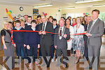 ASD Unit Opening:  Brian Purcell of Tv's The Apprentice programme cutting the ribbon at the official opening of Kerry's first Post Primary Autism Unit attached to Listowel Community College on Friday last.