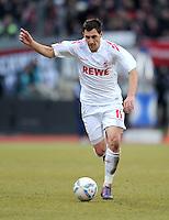 FUSSBALL   1. BUNDESLIGA  SAISON 2011/2012   22. Spieltag 1 FC Nuernberg - 1. FC Koeln       18.02.2012 Mato Jajalo (1. FC Koeln)