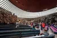 Felsenkirche Temppeliaukion kirkko, Helsinki, Finnland