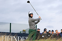 Brandon Stone (RSA) on the 17th tee during Round 4 of the Alfred Dunhill Links Championship at Old Course St. Andrew's, Fife, Scotland. 07/10/2018.<br /> Picture Thos Caffrey / Golffile.ie<br /> <br /> All photo usage must carry mandatory copyright credit (&copy; Golffile | Thos Caffrey)