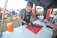 NWA Democrat-Gazette/MICHAEL WOODS • @NWAMICHAELW<br /> The 16th annual Bikes Blues and BBQ Friday September 25, 2015.  The 16th annual Bikes, Blues and BBQ Motorcycle Rally runs through Saturday on Dickson Street, Baum Stadium and the Washington County Fairgrounds in Fayetteville and all day Saturday at Arvest Ballpark in Springdale.
