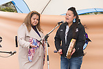 Geraldine Flurer and Jasmine Thomas from the Yinka Dene Alliance at the End of the Line. On May 30, 2015, over 500 Canadian citizens and First Nations marched in Red Head, Saint John, at the End of the Line for the proposed Energy East pipeline. The people were protesting the proposed mega pipeline and the tank terminal that would destroy and the Red Head community and endanger the Bay of Fundy. If approved, TransCanada's Energy East pipeline would travel 4600km from Alberta to Saint John, New Brunswick, shipping 1.1 million barrels of crude oil and bitumen for export through the Bay of Fundy, a critical habit for Right whales and home to thousands of jobs in Tourism and Fishing.