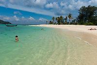 Beach fun on Koh Lipe pristine beach and sea, Thailand