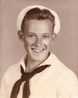 Wade Litzinger - Navy portrait taken in Memphis, TN  - 1943