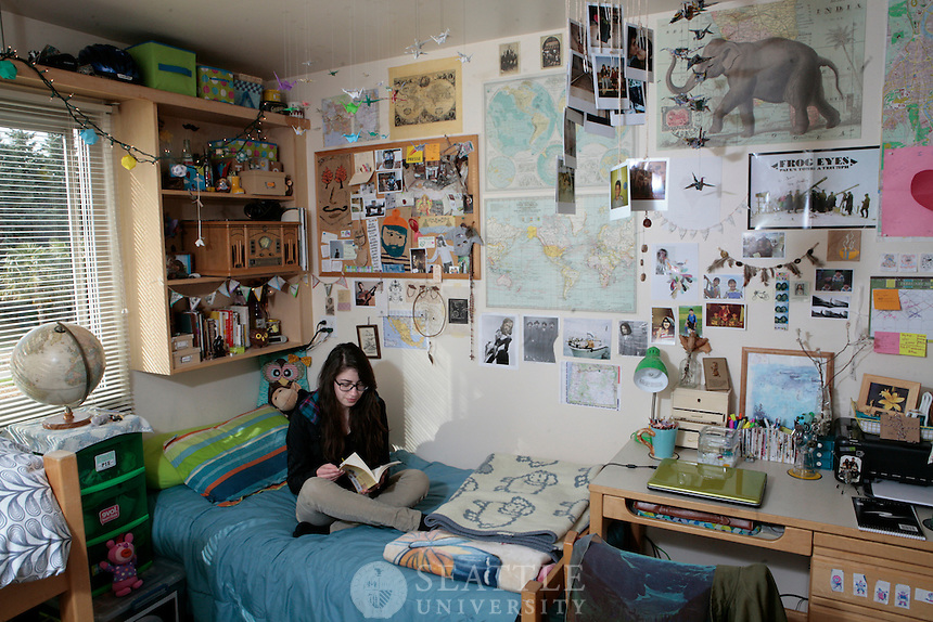 02172011 - Seattle University, Xavier dorm, global dorm, international students, game room, exterior, kitchen