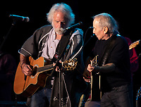 SAN FRANCISCO, CALIFORNIA - AUGUST 11: Special guest Bob Weir of the Grateful Dead performs with Paul Simon onstage during the 2019 Outside Lands Music And Arts Festival at Golden Gate Park on August 11, 2019 in San Francisco, California. <br /> CAP/MPI/FCU<br /> ©FCU/MPI/Capital Pictures