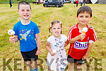 Padraig, Hannah and Darragh from Barrow enjoying their ice cream at the Blennerville Pony & Agricultural Show on Sunday.