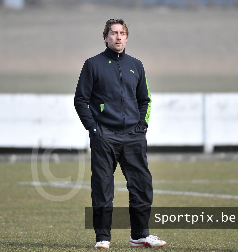 Switzerland U19 - Russia U19 : Switzerland coach Yannick Schwery (SUI) .foto DAVID CATRY / Nikonpro.be