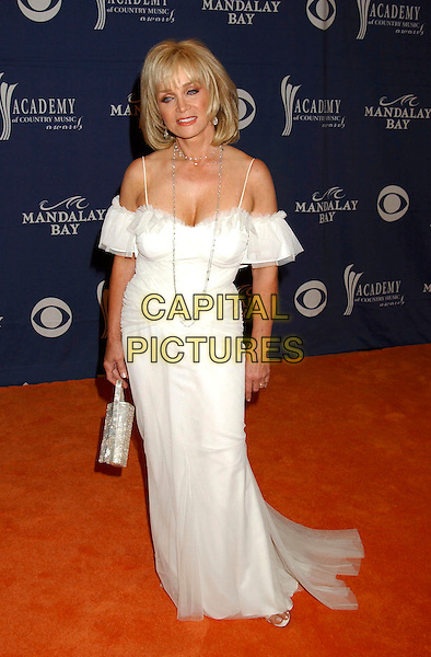 BARBARA MANDRELL.The 40th Annual Academy of Country Music Awards (ACM) held at Mandalay Bay Resort & Casino, Las Vegas, Nevada, USA, 17 May 2005..full length long white off the shoulder dress.Ref: ADM.www.capitalpictures.com.sales@capitalpictures.com.©Laura Farr/AdMedia/Capital Pictures.