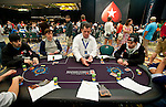 Team Pokerstars Pros Jason Mercier, left, and Jonathan Duhamel, right, at the same table.