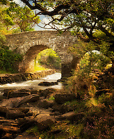 Old weir bridge. Kilanrney Lakes, Gap of Dunloe. Killarney National Park, Ireland