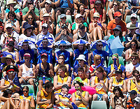 Fans on Margaret Court arena on Day One of the Australian Open..16/01/2012, 16th January 2012, 16.01.2012..The Australian Open, Melbourne Park, Melbourne,Victoria, Australia.@AMN IMAGES, Frey, Advantage Media Network, 30, Cleveland Street, London, W1T 4JD .Tel - +44 208 947 0100..email - mfrey@advantagemedianet.com..www.amnimages.photoshelter.com.