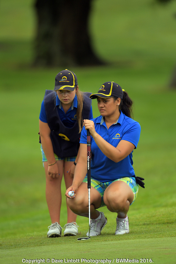 Rotana Howard (BoP). 2016 Toro Women's Interprovincial Golf Championship at Westown Golf Club in New Plymouth, New Zealand on Friday, 9 December 2016. Photo: Dave Lintott / lintottphoto.co.nz
