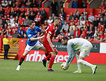 05.08.18 Aberdeen v Rangers: Ryan Kent with Mikey Devlin and Joe Lewis