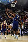 Turkish Airlines Euroleague 2017/2018.<br /> Regular Season - Round 8.<br /> FC Barcelona Lassa vs Valencia Basket: 89-71.<br /> Fernando San Emeterio vs Kevin Seraphin.