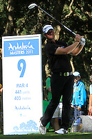 Peter Hanson (SWE) during the final day of the  Andalucía Masters at Club de Golf Valderrama, Sotogrande, Spain. .Picture Denise Cleary www.golffile.ie
