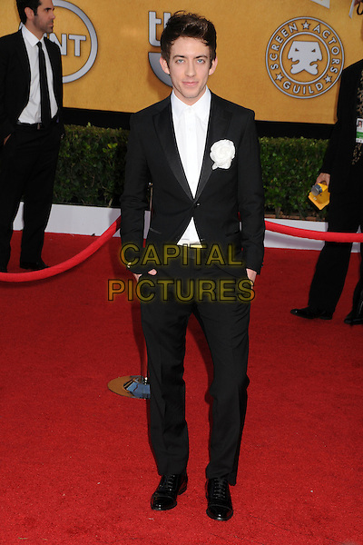 KEVIN McHALE.17th Annual Screen Actors Guild Awards held at The Shrine Auditorium, Los Angeles, California, USA..January 30th, 2011.arrivals full length suit black white corsage tie flower.CAP/ADM/BP.©Byron Purvis/AdMedia/Capital Pictures.