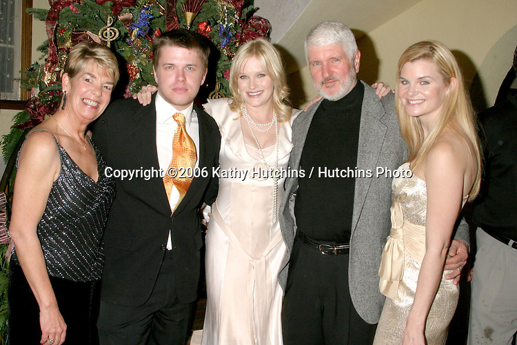 Charle's Wife, David Tom, Nicholle Tom. Charles Tom  (Father), and Heather Tom.Annual Christmas Party.Heather Tom's House.Glendale, CA.December 16,  2006.©2006 Kathy Hutchins / Hutchins Photo....