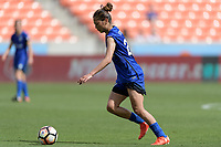 Houston, TX - Saturday May 27, 2017: Rumi Utsugi passes the ball during a regular season National Women's Soccer League (NWSL) match between the Houston Dash and the Seattle Reign FC at BBVA Compass Stadium.
