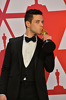 LOS ANGELES, CA. February 24, 2019: Rami Malek at the 91st Academy Awards at the Dolby Theatre.<br /> Picture: Paul Smith/Featureflash