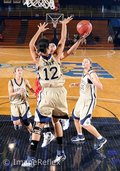 Florida International University women's basketball forward Elisa Carey (12) plays against the University of South Alabama which won the game 65-47 on December 20, 2008 at Miami, Florida. .