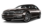 Stock pictures of low aggressive front three quarter view of 2018 BMW 7-Series-Plug-In-Hybrid 740Le-iPerformance 4 Door Sedan Low Aggressive