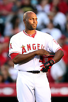 Los Angeles Angels outfielder Torii Hunter #48 during game against the New York Yankees at Angel Stadium on June 4, 2011 in Anaheim,California. Larry Goren/Four Seam Images