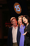Barrett Foa, Anita Larsen and Erin Quill during the 'Avenue Q' 15th Anniversary Reunion Concert at Feinstein's/54 Below on July 30, 2018 in New York City.