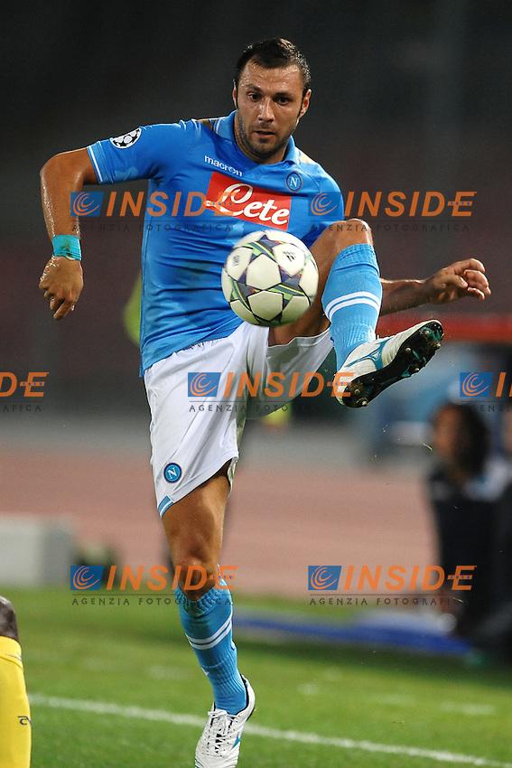 """Andrea DOSSENA Napoli.Napoli 27/9/2011 Stadio """"San Paolo"""".Football Calcio Champions League 2011/2012.Napoli Vs Villarreal.Foto Insidefoto Andrea Staccioli"""