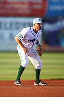 Daytona Tortugas shortstop Blake Trahan (7) during a game against the Fort Myers Miracle on April 17, 2016 at Jackie Robinson Ballpark in Daytona, Florida.  Fort Myers defeated Daytona 9-0.  (Mike Janes/Four Seam Images)