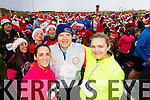 Darragh Stephenson, Kevin Finn and Suzanne Chute, who took part in the Santa 5k run which took place at Tralee Wetlands Centre on Sunday.