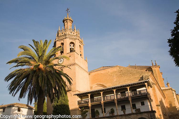 Historic church once a Moorish mosque Iglesia de Santa Maria la Mayor, Ronda, Spain