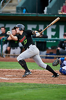 Anthony Villa (37) of the Great Falls Voyagers bats against the Ogden Raptors at Lindquist Field on September 14, 2017 in Ogden, Utah. The Raptors defeated the Voyagers 7-4 in Game One of the Pioneer League Championship. (Stephen Smith/Four Seam Images)
