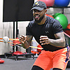 Jose Reyes of the New York Mets does fielding drills during a workout session at Professional Athletic Performance Center in Garden City, NY on Wednesday, Feb. 1, 2017.