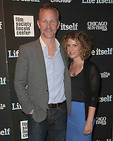 New York, NY - June 23 : Morgan Spurlock and Sara Bernstein attend the New York Premiere of Life Itself<br /> held at the Film Society of Lincoln Center Walter Reade Theater<br /> on June 23, 2014 in New York City. Photo by Brent N. Clarke / Starlitepics
