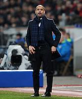 FUSSBALL   CHAMPIONS LEAGUE   SAISON 2011/2012   ACHTELFINALE  Bayer 04 Leverkusen - FC Barcelona              14.02.2012 Trainer Josep Guardiola (Barca)