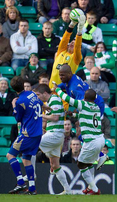 Lukasz Zaluska saves for Celtic