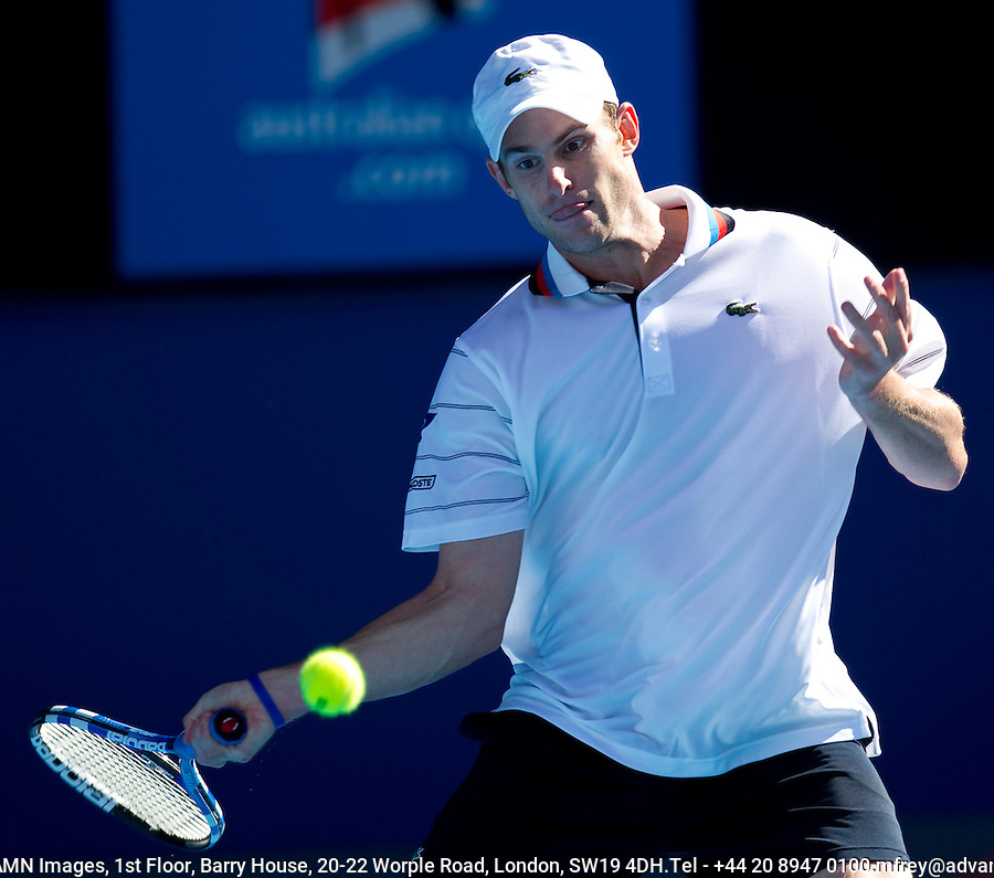 Andy Roddick (USA) (7) against Marin Cilic (CRO) (14) in the Quarter Finals of the Mens Singles. Cilic beat Roddick 7-6 6-3 3-6 2-6 6-3..International Tennis - Australian Open Tennis -  Tues 26  Jan 2010 - Melbourne Park - Melbourne - Australia ..© Frey - AMN Images, 1st Floor, Barry House, 20-22 Worple Road, London, SW19 4DH.Tel - +44 20 8947 0100.mfrey@advantagemedianet.com