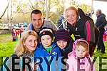 Katie, Joe and Billy Roberts with Shane O'Sullivan, Mary O'Sullivan, Claire O'Sullivan and Jessica Curtin, pictured at Tralee circus festival at Pearse Park on Sunday.