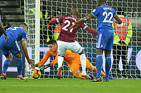 Neil Etheridge Of Cardiff City FC makes a save during West Ham United vs Cardiff City, Premier League Football at The London Stadium on 4th December 2018