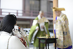 TOKYO, JAPAN - FEBRUARY 3: People carry their beloved pets to pray for good health in Zojoji Temple in Tokyo on Feb. 3, 2019 to observe the annual Mamemaki or the bean scattering ceremony. The ritual ceremony, observed at temples and shrines throughout the country, is believed by Japanese to drive out the demons of misfortune and it is considered as the harbinger of spring. (Photo: Richard Atrero de Guzman/Aflo)