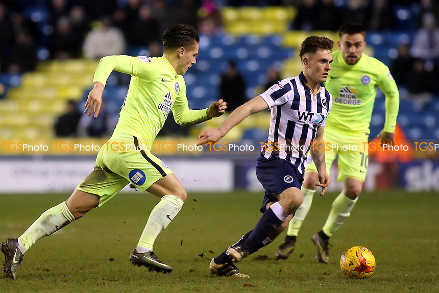 Ben Thompson of Millwall in action during Millwall vs Peterborough United, Sky Bet EFL League 1 Football at The Den on 28th February 2017