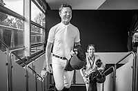 NZL-Bruce Goodin and Samantha McIntosh arrives for the FEI TV team interview. 2017 ESP-Longines FEI Nations Cup Jumping Final - CSIO Barcelona. Real Club de Polo de Barcelona. Wednesday 27 September. Copyright Photo: Libby Law Photography