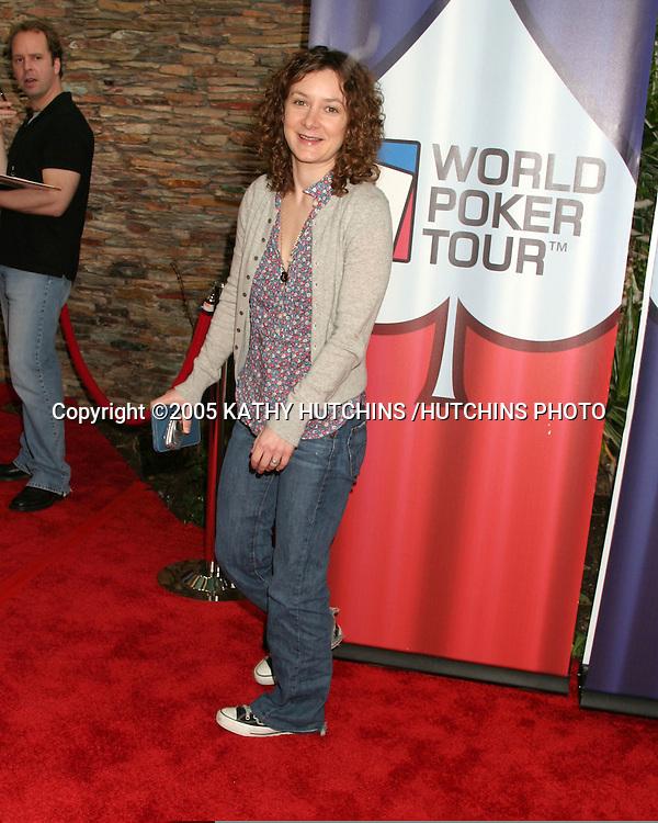SARA GILBERT.LA POKER CLASSIC & WORLD POKER TOUR INVITATIONAL.COMMERCE CASINO.LOS ANGELES, CA.FEBRUARY 23, 2005.©2005 KATHY HUTCHINS /HUTCHINS PHOTO...