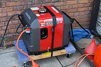 Power generator supplying electricity for various activities. Dragon Festival Lake Phalen Park St Paul Minnesota USA