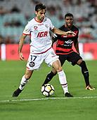 10th January 2018, ANZ Stadium, Sydney, Australia; A League football, Western Sydney Wanderers FC versus Adelaide United; Adelaide midfielder Nikola Mileusnic